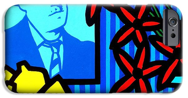 Happy Posters iPhone Cases - Homage To James Joyce iPhone Case by John  Nolan
