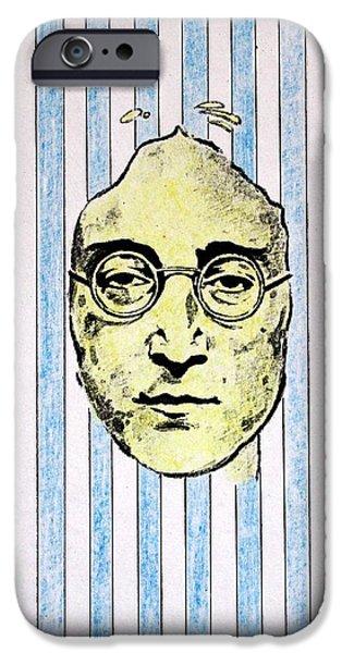 Beatles Mixed Media iPhone Cases - Homage To John Lennon  iPhone Case by John  Nolan