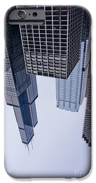 Willis Tower iPhone Cases - Homage to Peter Wegner iPhone Case by David Bearden