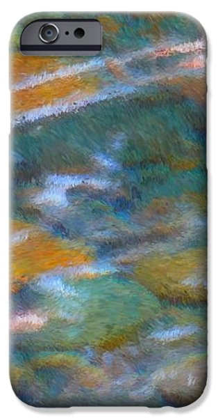 Colorful Abstract iPhone Cases - Homage to Van Gogh 2 iPhone Case by Carol Groenen