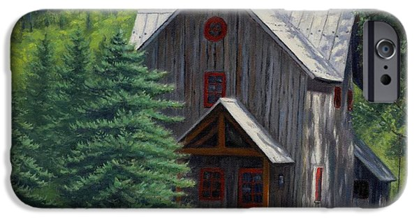 Cabin Window iPhone Cases - Home Away From Home iPhone Case by Asa Gochenour