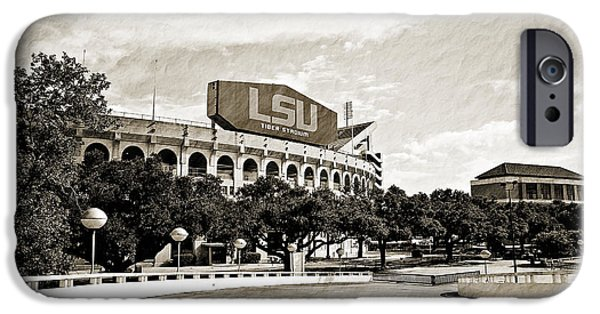 Louisiana State University iPhone Cases - Home Field Advantage iPhone Case by Scott Pellegrin