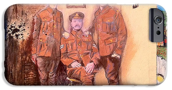 Ww1 iPhone Cases - Home Front Room iPhone Case by Michelle Deyna-Hayward
