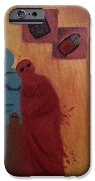 Baghdad Paintings iPhone Cases - Home iPhone Case by Hend Al-Rijab