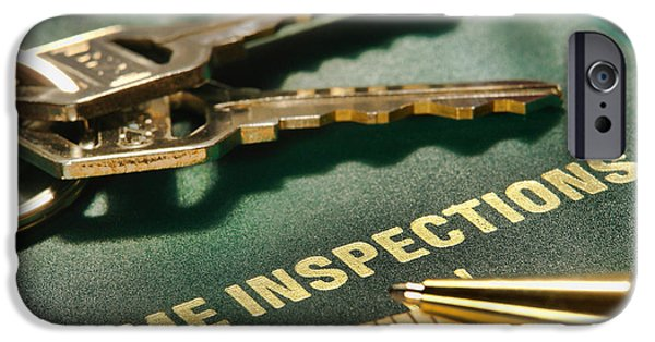 Report iPhone Cases - Home Inspections iPhone Case by Olivier Le Queinec