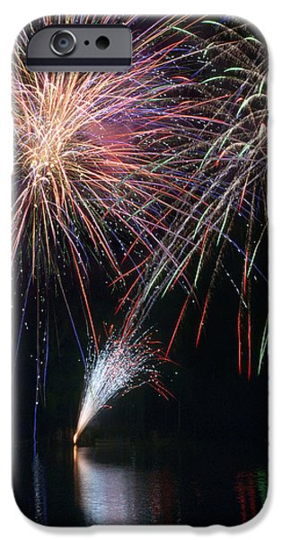 Home of the Brave Fireworks iPhone Case by Christina Rollo