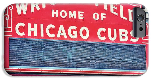 Wrigley Field iPhone Cases - Home of the Cubs iPhone Case by Emily Enz
