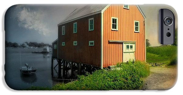 Porpoise iPhone Cases - Home on Cape Porpoise iPhone Case by Diana Angstadt