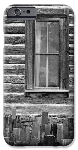 Cabin Window iPhone Cases - Home on the Range iPhone Case by Edward Fielding