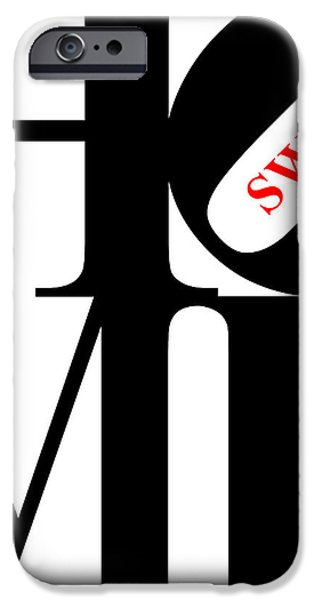 Home Sweet Home 20130713 Black White Red iPhone Case by Wingsdomain Art and Photography