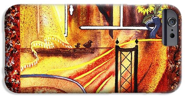Corridor iPhone Cases - Home Sweet Home Decorative Design Welcoming Three  iPhone Case by Irina Sztukowski