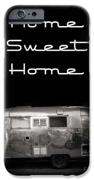 Copy iPhone Cases - Home Sweet Home Vintage Airstream iPhone Case by Edward Fielding