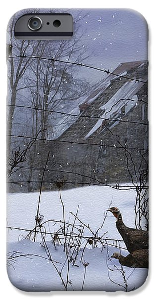 Home Through The Snow iPhone Case by Ron Jones