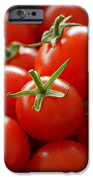 Homegrown Tomatoes iPhone Case by Rona Black