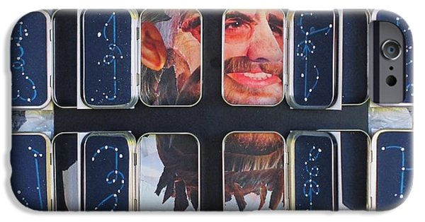 Racism Mixed Media iPhone Cases - Homeland Security Phase 2 The Face of Terror Full-Blown iPhone Case by Mack Galixtar