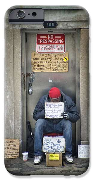 Human Survival iPhone Cases - Homeless In The USA iPhone Case by Thomas Woolworth