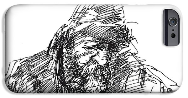 Sketch iPhone Cases - Homeless iPhone Case by Ylli Haruni