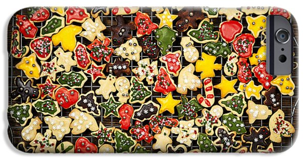 Cookie iPhone Cases - Homemade Christmas cookies iPhone Case by Elena Elisseeva