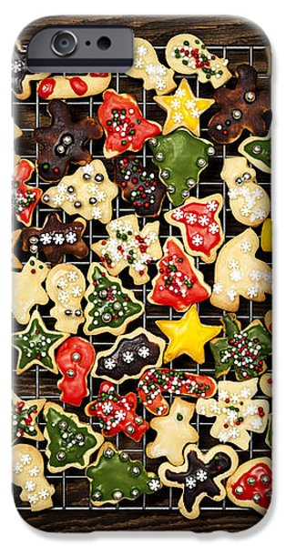 Homemade Christmas cookies iPhone Case by Elena Elisseeva