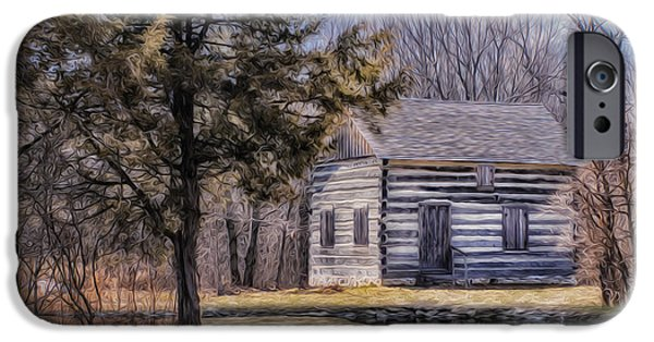 Shed Digital Art iPhone Cases - Homestead 4 iPhone Case by Jack Zulli