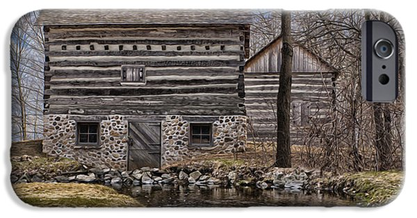 Shed Digital Art iPhone Cases - Homestead 5 iPhone Case by Jack Zulli