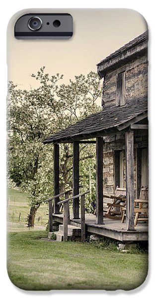 Homestead at Dusk iPhone Case by Heather Applegate