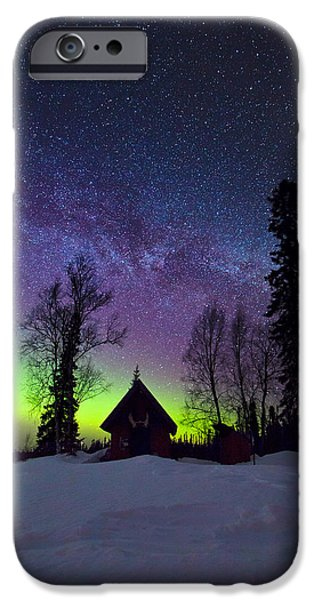 Northern Lights iPhone Cases - Homestead iPhone Case by Ed Boudreau