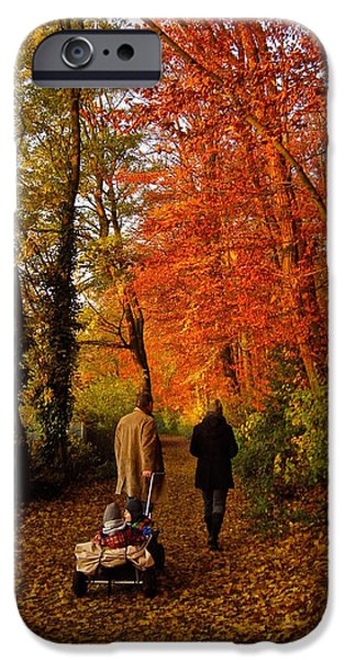 Autumn Scenes iPhone Cases - Homeward Bound iPhone Case by Richard Cummings