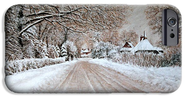 Village Pastels iPhone Cases - Homeward Bound iPhone Case by Rosemary Colyer