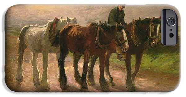 Horse iPhone Cases - Homeward iPhone Case by Harry Fidler