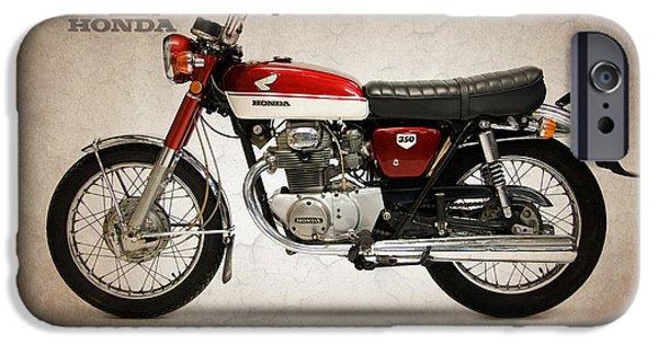 Honda iPhone Cases - Honda CB350 1970 iPhone Case by Mark Rogan