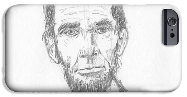 President iPhone Cases - Honest Abe iPhone Case by David Dodson
