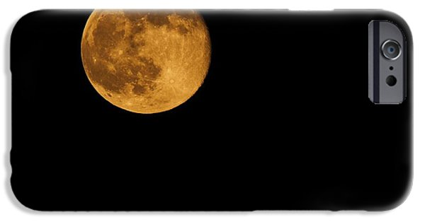 Man In The Moon iPhone Cases - Honey Moon Full Moon 2014 iPhone Case by Dan Sproul