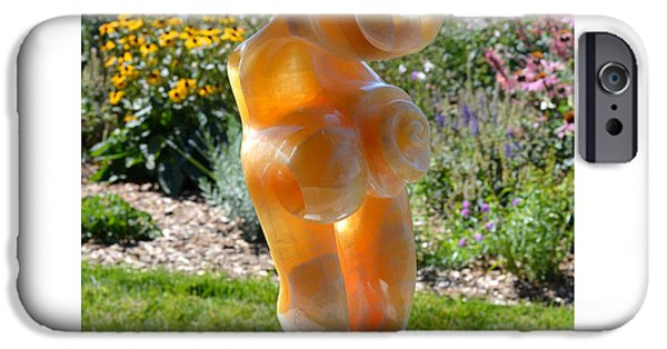 Santa Sculptures iPhone Cases - Honey Plume iPhone Case by Carlo Martinez
