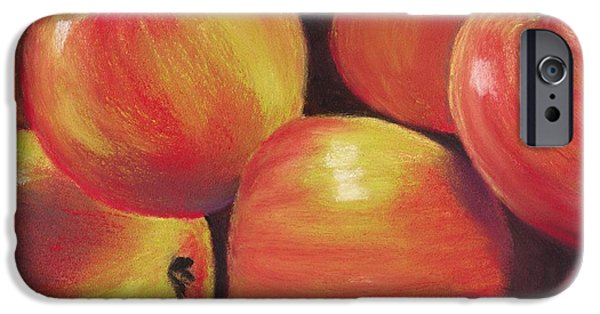 Organic Pastels iPhone Cases - Honeycrisp Apples iPhone Case by Anastasiya Malakhova