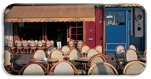 Empty Chairs iPhone Cases - Honfleur Normandy France iPhone Case by Panoramic Images