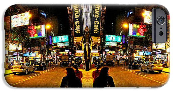 Strange iPhone Cases - Hong Kong Double Vision #1 iPhone Case by Evan Peller
