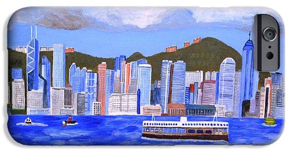 Hong Kong Paintings iPhone Cases - Hong Kong iPhone Case by Magdalena Frohnsdorff