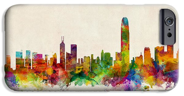 China iPhone Cases - Hong Kong Skyline iPhone Case by Michael Tompsett