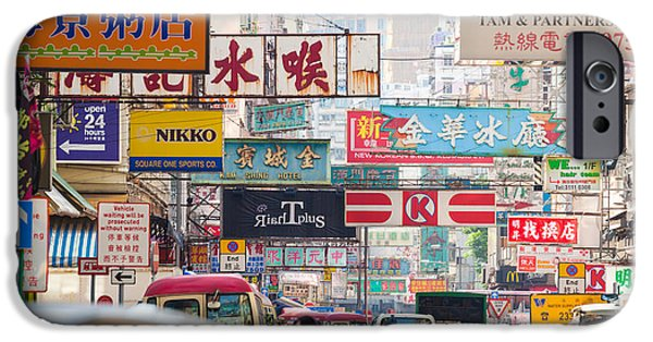 Jordan iPhone Cases - Hong Kong streets iPhone Case by Matteo Colombo