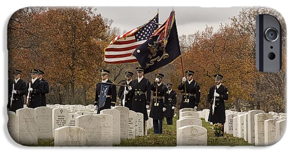 Burying Ground iPhone Cases - Honor Guard iPhone Case by Terry Rowe
