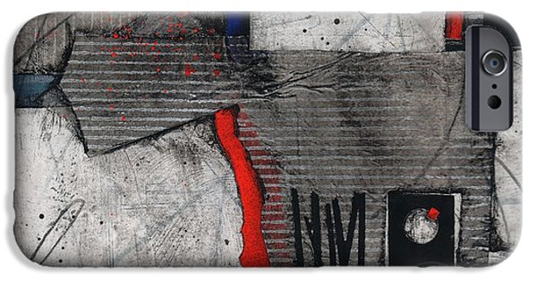 Abstracted Mixed Media iPhone Cases - Honor Self iPhone Case by Laura  Lein-Svencner