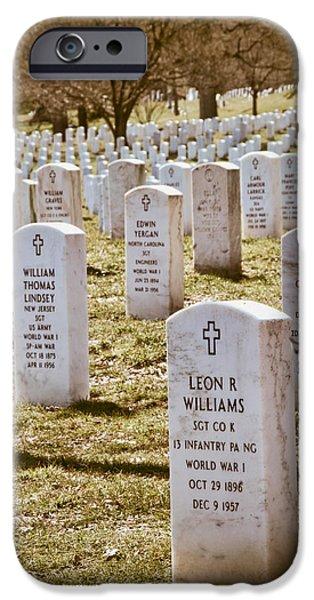 Soldiers National Cemetery Digital iPhone Cases - Arlington National Cemetery Vertical iPhone Case by Vizual Studio
