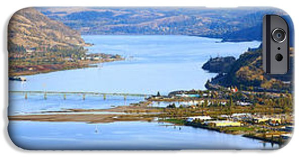 Connection iPhone Cases - Hood River Bridge, Hood River, Oregon iPhone Case by Panoramic Images