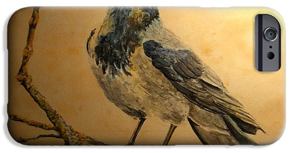 Berlin iPhone Cases - Hooded Crow iPhone Case by Juan  Bosco