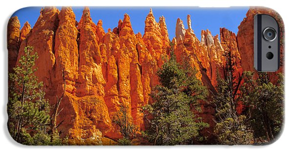 Haybale iPhone Cases - Hoodoos Along the Trail iPhone Case by Robert Bales