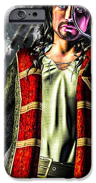 Hook Pirate Extraordinaire iPhone Case by Bob Orsillo