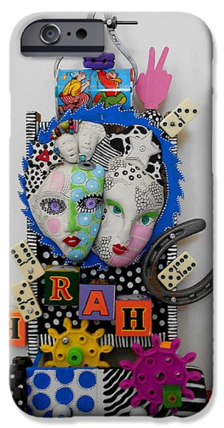 Original Sculptures iPhone Cases - Hoorah For Everything iPhone Case by Keri Joy Colestock