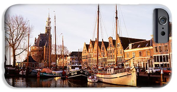 Port Town iPhone Cases - Hoorn, Holland, Netherlands iPhone Case by Panoramic Images