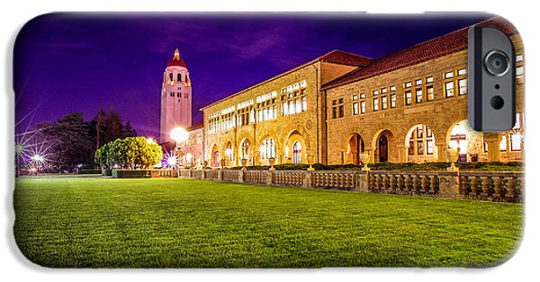 Quad iPhone Cases - Hoover Tower Stanford University iPhone Case by Scott McGuire